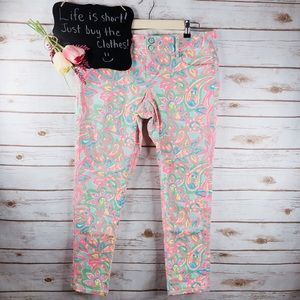 Lilly Pulitzer Worth Skinny Mini floral jeans